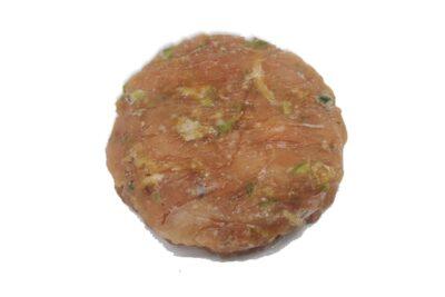 hamburguesa de salmón y teriyaki buenisima