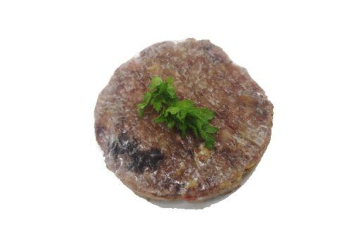 hamburguesa tonyina i ceba caramel·litzada boníssima Pedro Ximenez