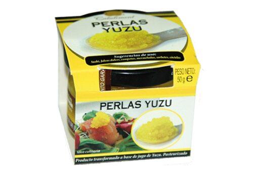 Perlas citricas de yuzu