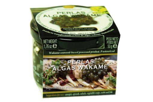 perlas de alga wakame perles esfereicicaión
