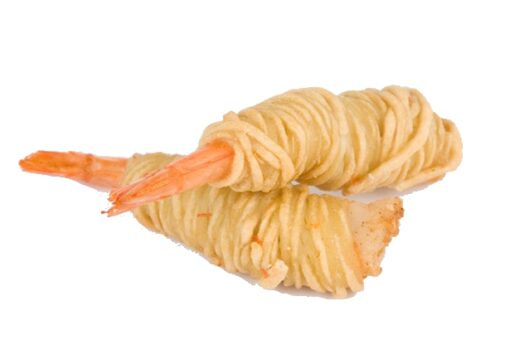 langostino en nido de patata, llagosti envoltat en fil de patata nido de patata